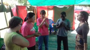 Representatives from YWAM Blantyre, YWAM Kona and YWAM Hernhutt Praying in Malawi in January during The Invitation